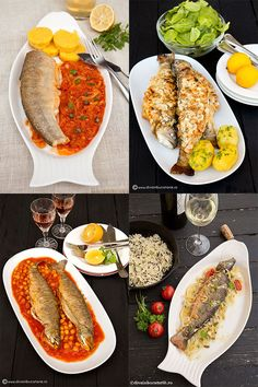 RETETE CU PESTE | Diva in bucatarie Romanian Recipes, Romanian Food, Fish And Seafood, Cobb Salad, Bacon, Food And Drink, Health, Calamari, Fine Dining