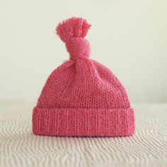 Upcycled newborn hat Pink photography prop by UpsyDaisyProps