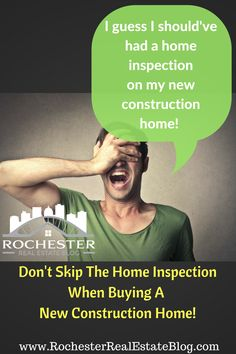 New Construction Home Buying Tip: Don't Skip The Home Inspection When Buying A New Construction Home! http://www.rochesterrealestateblog.com/top-10-new-construction-home-buying-tips/ via @KyleHiscockRE