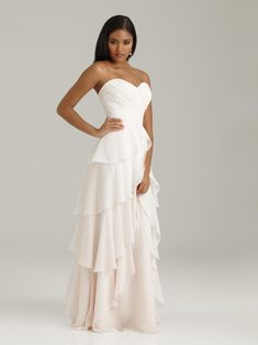 60d92de168 Check out the deal on Allure 1328 Long Flirty Chiffon Bridesmaid Dress at French  Novelty Prom