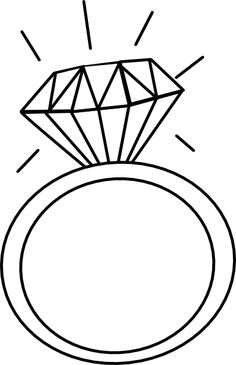 Engagement Ring Outline Clip Art 2