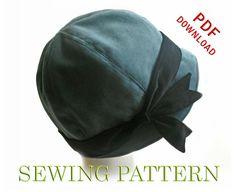 Risultato immagine per Free Cloche Hat Sewing Pattern Hat Patterns To Sew, Sewing Patterns Free, Free Sewing, Free Pattern, Pattern Sewing, Fleece Hat Pattern, Pattern Ideas, Fascinator, Sew Ins