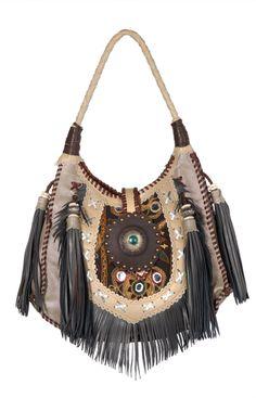 Leather Boho Hippie Bag - World Family Ibiza, Rainbow Hippie Bags, Boho Bags, Gypsy Bag, Boho Gypsy, Boho Accessories, Hippie Chic, Beautiful Bags, Boho Fashion, Purses And Bags