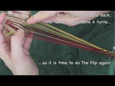 Tabletweaving: Kivrim tutoria Ram's horn - YouTube Card weaving/tablet weaving