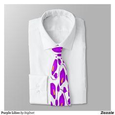 Purple Lilies Tie