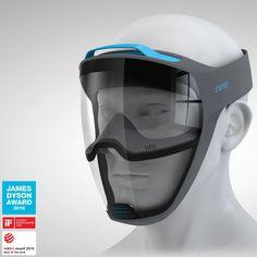Tech Discover espire respirator reveals facial emotion while improving airflow Wearable Technology, Technology Gadgets, Futuristic Technology, Helmet Design, Mask Design, 3d Cnc, Respirator Mask, Cool Masks, 3d Character