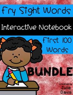This is all 10 weeks of the Fry First 100 Sight Word Interactive Notebook Packs! Each week focuses on 10 Fry First 100 Sight Words. After the 10 weeks, your students will have learned all Fry First 100 Sight Words in a fun and interactive way!  These sets were made with permission and correlate with Sharing Kindergarten's Sight Word Stations that you can view here: Sharing Kindergarten's Fry Sight Word Stations  The activities include: - sorting sight words - writing sight words - I Spy