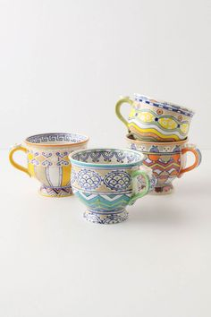 Loule teacups - so cute and fun >> Love the style/colors and designs!
