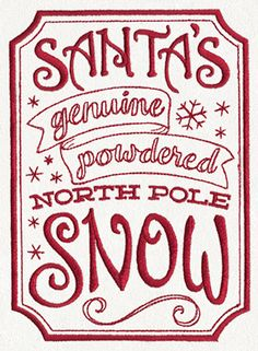 ApotheMerry - Santa's Genuine North Pole Snow | Urban Threads: Unique and Awesome Embroidery Designs