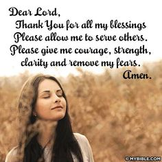 Prayer - Thank You for all my blessings. ..