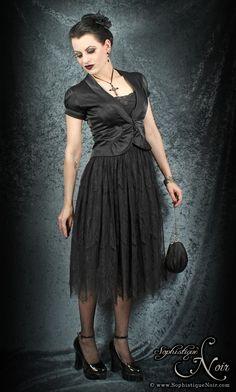 Goth Lace Skirt and Satin Blazer