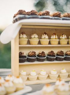 Tuscan Villa-inspired, Rustic-Luxe, Vineyard Wedding - Rustic,  Cupcakes,  Jessica Shawn
