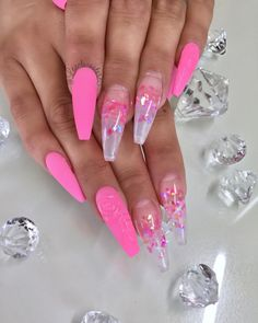 "636 Likes, 3 Comments - иαιℓѕ ву ℓιѕα (@lexelucouture) on Instagram: ""Modern pink Glass film #acrylic #nails #nailswag #nailgasm #nailgame #nailporn #nailprodigy…"""