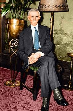 Nikola Tesla (coloured photo)