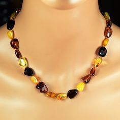 Adult Amber Necklace Genuine Baltic Amber Adult by BalticAmberCity