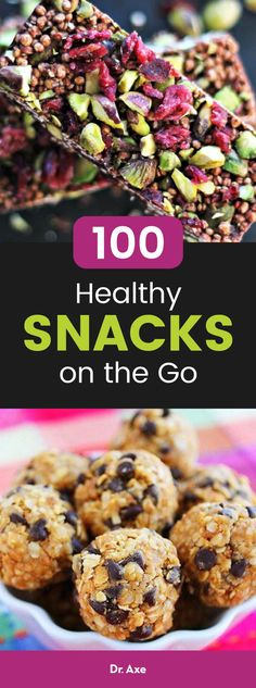 It's easier to eat healthy when you have healthy snacks on hand. So check out these delicious easy snack recipes from around the web that are perfect to take on the go. Whether they're for the kids or for work, you're sure to enjoy.