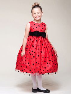 25f805c0ec289 Red Tulle Polka-Dot Dress With Velvet Accent - Infant (6M -24M). Little Girl  Christmas DressesGirls ...