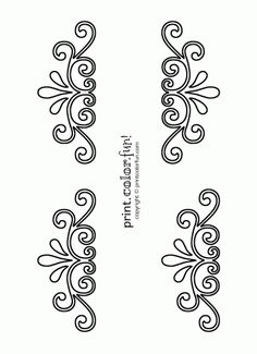 Printable Flower Stencil Patterns | Swirl and flourish stencils | Print. Color. Fun! Free printables ...