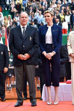 LE PRINCE ALBERT ET LA PRINCESSE CHARLENE DE MONACO A LA FINALE MASTER TENNIS MONTE CARLO - PRINCESS MONARCHY