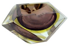 Murano Mandruzzato Faceted Ashtray