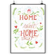 Poster DIN A3 Home Sweet Home aus Papier 160 Gramm  weiß - Das Original von Mr. & Mrs. Panda.  Jedes wunderschöne Poster aus dem Hause Mr. & Mrs. Panda ist mit Liebe handgezeichnet und entworfen. Wir liefern es sicher und schnell im Format DIN A3 zu dir nach Hause.    Über unser Motiv Home Sweet Home  Am Schönsten ist es immer noch zuhause in den eigenen vier Wänden.     Verwendete Materialien  Es handelt sich um sehr hochwertiges und edles Papier in der Stärke 160 Gramm    Über Mr. & Mrs…