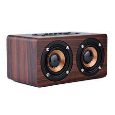 New Wooden HIFI Bluetooth Speaker 10W Dual Loudspeakers Surround Mini Portable System