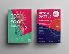 A visual brand identity for the Tech meets Food event of the European Packaging…