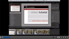 Batch Editing in Lightroom - Video Tutorial