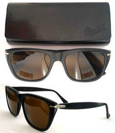 Persol Ratti Torino 40401 01 Sunglasses VINTAGE 1980's VERY RARE Made In Italy   eBay