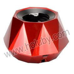 S-609 Portable Rhombus Design Multifunction Wireless Mini Bluetooth Speaker Support Hands-free Function(Red)