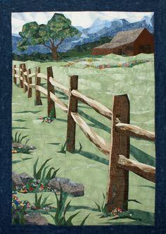 Split Rail Pieced Quilt Pattern