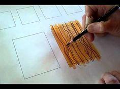 Ilustración de ladrillo, loza o azulejos usando una técnica básica y rápida para crear profundidad, para uso en dibujos de Diseño Interior. Audio en español....