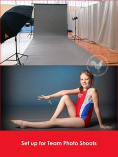 Sports team photography - lighting, equipment & setup for gymnastics photogs. by Erin. http://www.texaschicksblogsandpics.com/sports-team-photography-tutorial-part-1-lighting-and-equipment/
