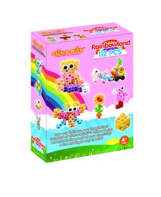 Rainbowland - 16 in 1 Set! Explore the colorful creations in Rainbowland! [http://www.clickabricktoys.net/products/rainbowland?utm_source=Pinterest&utm_medium=Product-Pin&utm_content=Rainbowland-Pin&utm_campaign=Pinterest-General] This 3D building set can create 16 unique toys from butterflies to mermaids! More dynamic than Lego and FUN!