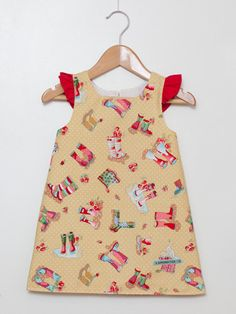 Girls Gumboots Galore Dress With Red Ruffle Sleeves Size 12 months