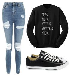 """""""Untitled #3"""" by lara-ribeiro-i on Polyvore featuring Topshop and Converse"""