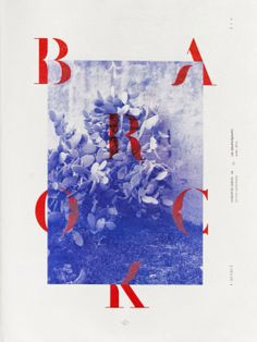 """Barock,"" a poster designed by Les Graphiquants using their typeface Alsace Stencile."