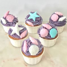 Cupcakes  Mar Menina Sereia