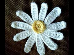 Applique Crochet - YouTube Crochet Video, Appliques, Make It Yourself, Easy Crochet, Flower Crochet, Bonjour, Embroidery, Flowers, Riveting
