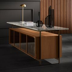 Inspired by the modernist architecture and the unobstructed repetitive building techniques known from the mid century, the Chicago cabinet collection by @punt_mobles stands as a tribute to this particular architectural period. With its light and floating appearance the sideboard almost appears as a piece of modern architecture itself.