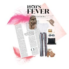 """""""1970's vibes coming back to style"""" by rachelbarkho on Polyvore featuring Miguelina, Rebecca Minkoff, SONOMA Goods for Life, Tom Ford, Topshop, Chico's and Bølo"""