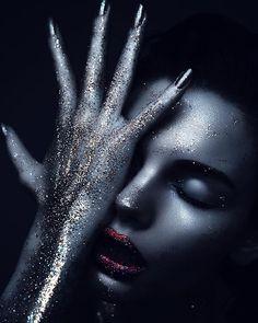 glitter makeup Marlen Fjeldstad by Desiree Mattsson & MUA Sissel Fylling
