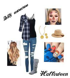 """DIY scarecrow costume"" by destiny-herrman on Polyvore featuring Topshop, J.Crew, halloweencostume and DIYHalloween"