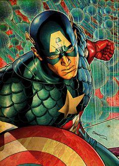 Captain America - Brandon Peterson
