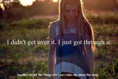 I just got through it.