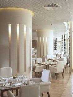 Restaurant at Raffles Dubai Hotel #dubai #hotel #uae