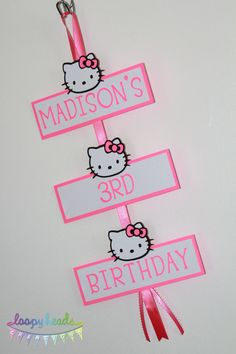 Hello Kitty Door Sign or Party Sign by LoopyHeads on Etsy, $16.00