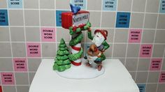 Dept 56 North Pole Accessory - Trimming The North Pole with box