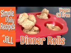 Homemade Vegan Dinner Rolls and Oil Free