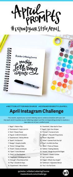 #BetterLetteringCourse April Challenge: #ExpandYourStyleApril — Made Vibrant
